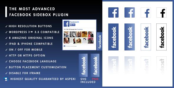 Aspexi Facebook Like Box Sidebox HD